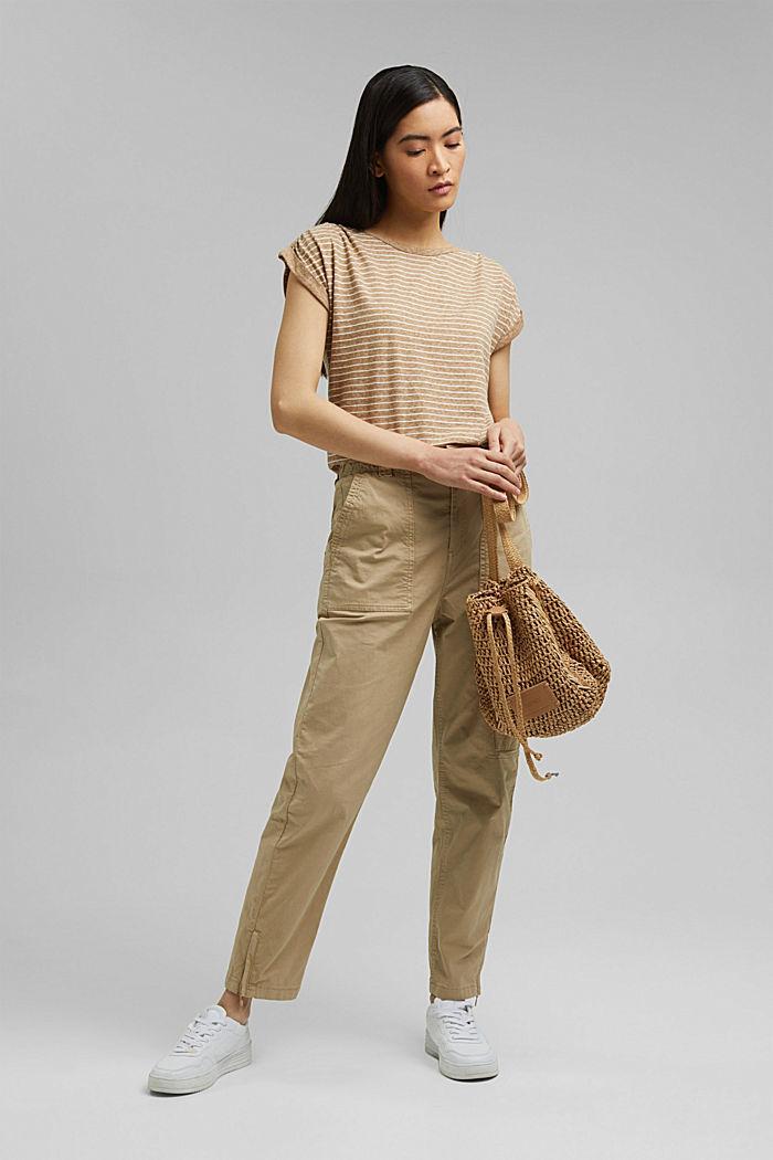 Cargo kalhoty s detailem zipu, SAND, detail image number 1
