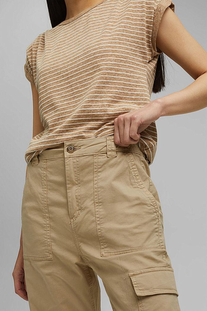Cargo kalhoty s detailem zipu, SAND, detail image number 2