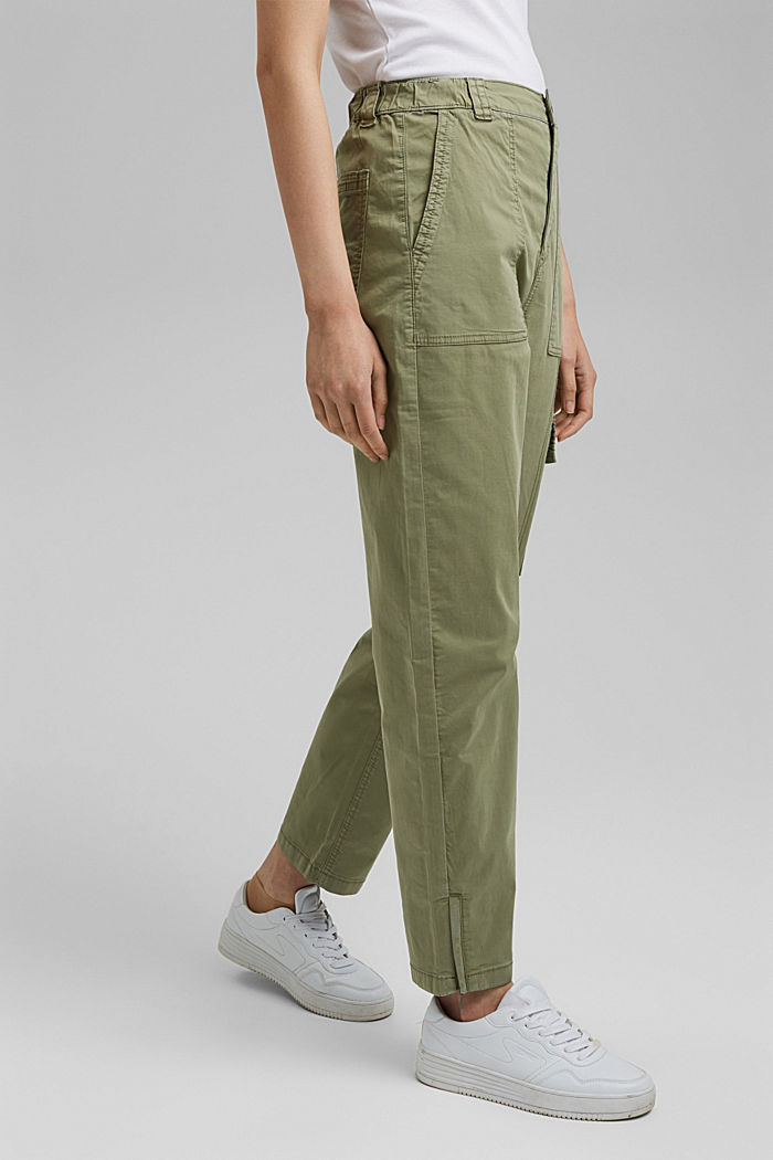 Cargo trousers with a zip detail, LIGHT KHAKI, detail image number 0