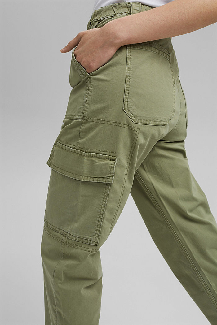 Cargo trousers with a zip detail, LIGHT KHAKI, detail image number 2