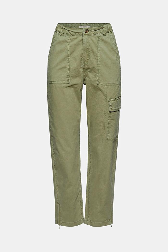 Pantaloni cargo con dettaglio zippato