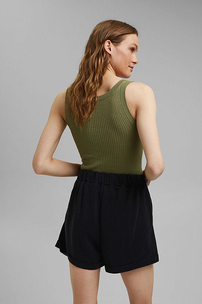 Short en jersey à teneur en fibres LENZING™ ECOVERO™, BLACK, detail image number 3