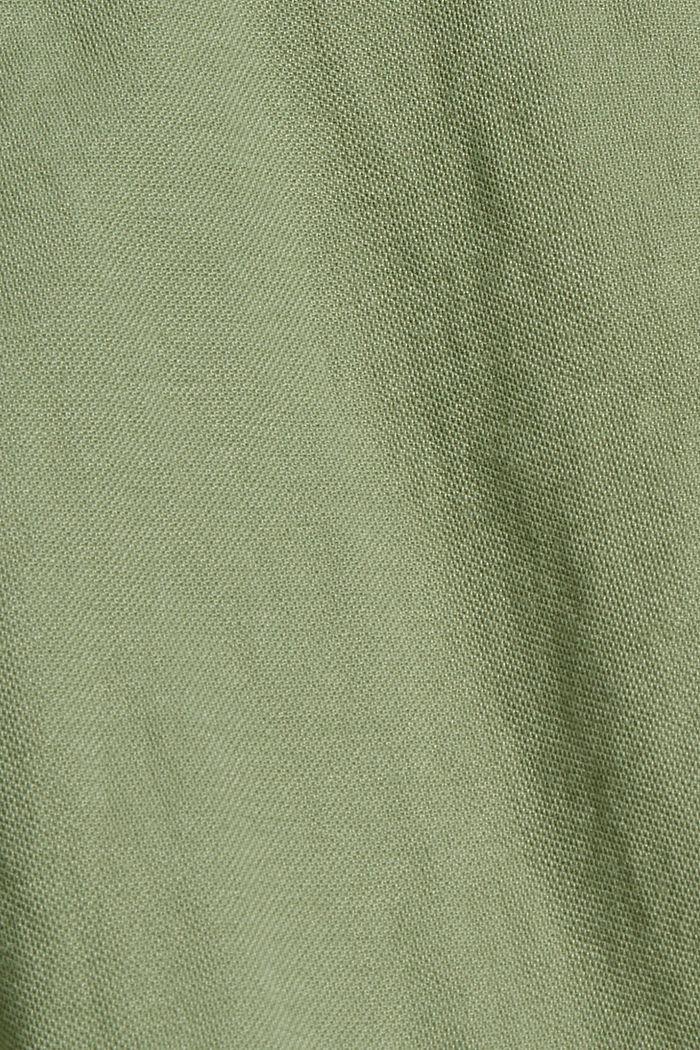 Jersey shorts with LENZING™ ECOVERO™, LIGHT KHAKI, detail image number 4