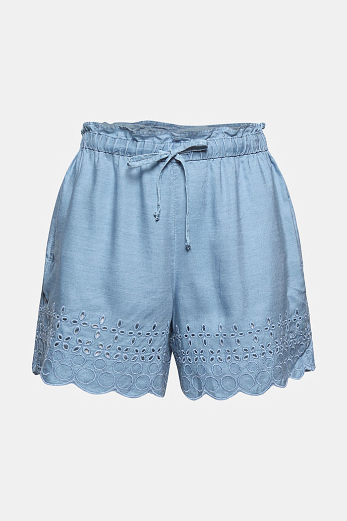 Shorts woven, BLUE BLEACHED, detail image number 7