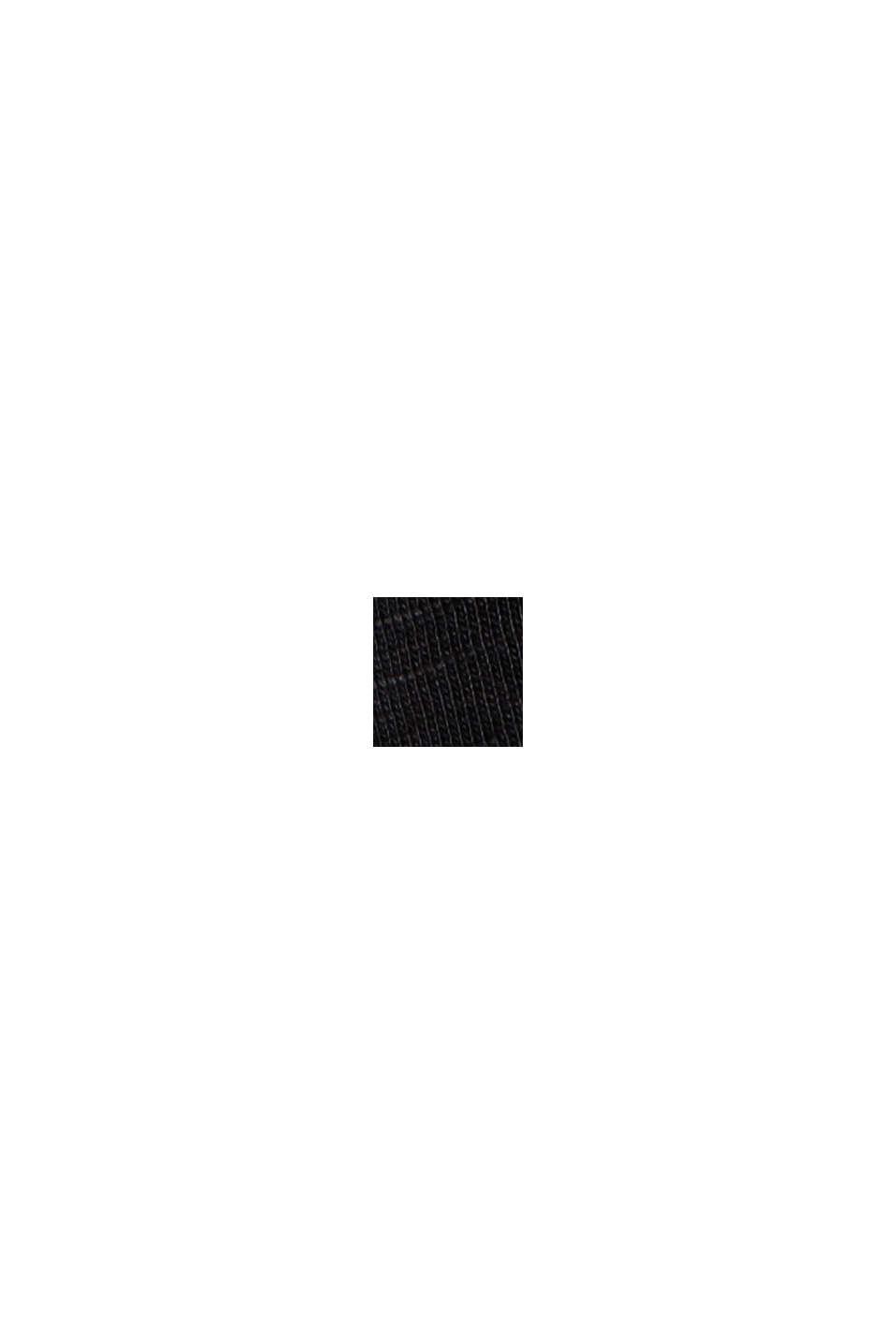 A-formet jerseynederdel af økobomuld/Tencel™, BLACK, swatch