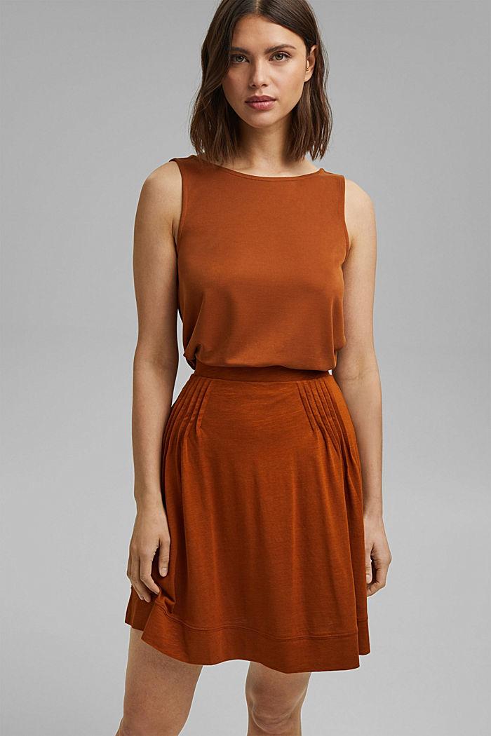 Spódnica z jerseyu o linii A z bawełny ekologicznej/Tencelu™
