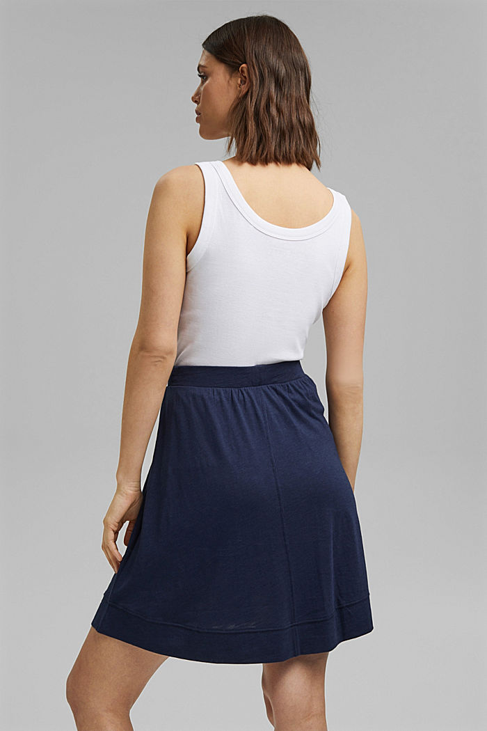 A-line jersey skirt made of organic cotton/TENCEL™, NAVY, detail image number 3