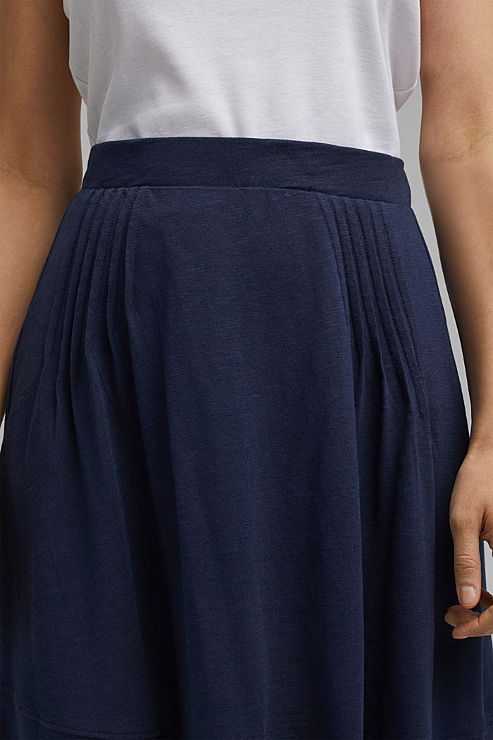 A-line jersey skirt made of organic cotton/TENCEL™, NAVY, detail image number 2