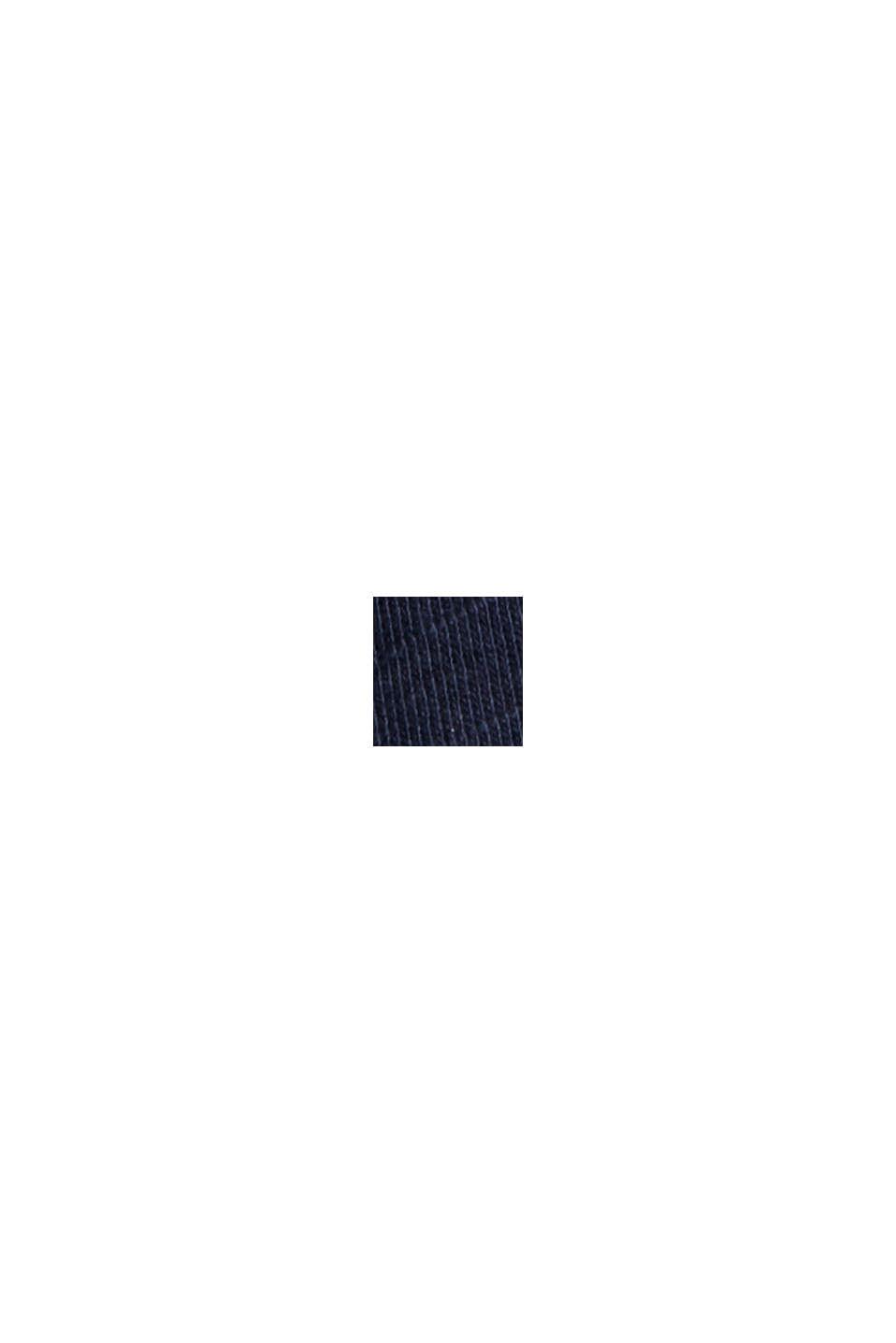A-formet jerseynederdel af økobomuld/Tencel™, NAVY, swatch