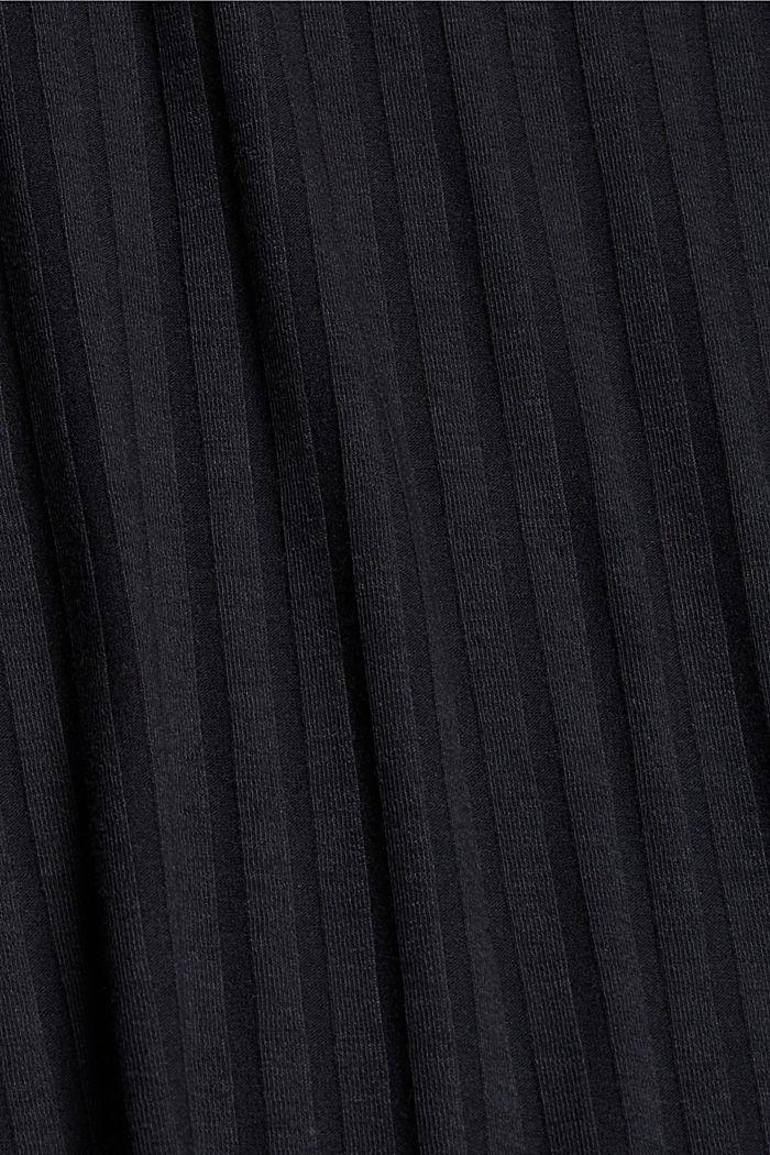 En matière recyclée: la jupe longueur midi en jersey côtelé, BLACK, detail image number 4