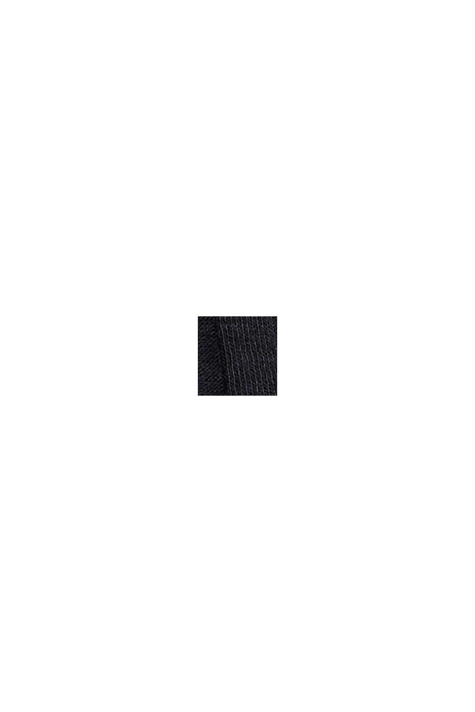 Af genanvendte materialer: Midi-jerseynederdel med ribstruktur, BLACK, swatch