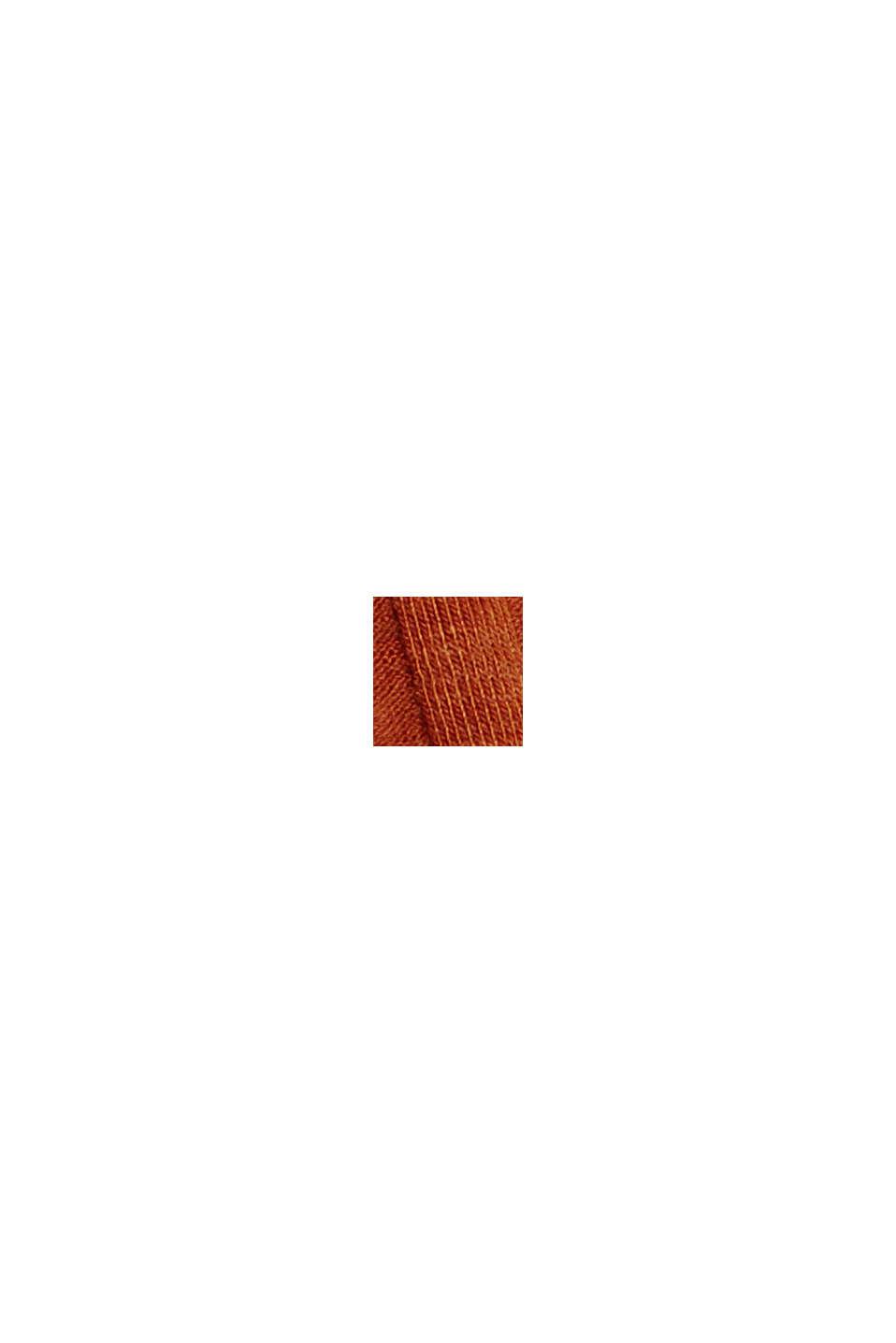 Af genanvendte materialer: Midi-jerseynederdel med ribstruktur, CARAMEL, swatch