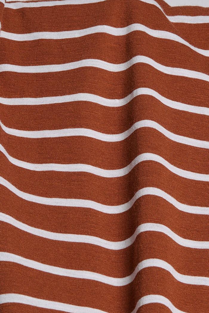 Midirock aus Jersey, Bio-Baumwolle/ TENCEL™, CARAMEL, detail image number 4