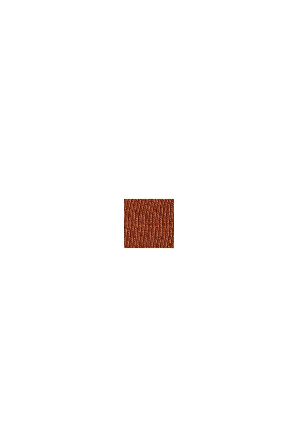 Midirock aus Jersey, Bio-Baumwolle/ TENCEL™, CARAMEL, swatch