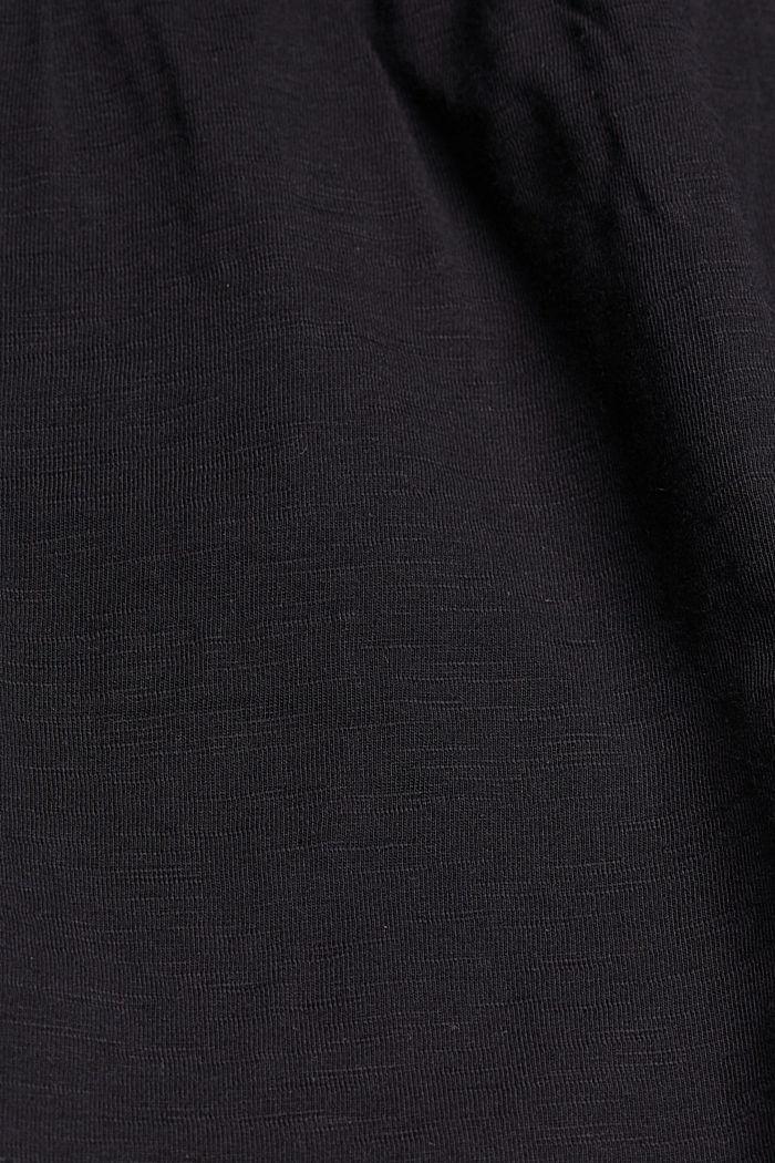 Minirock aus Jersey, Organic Cotton, BLACK, detail image number 4