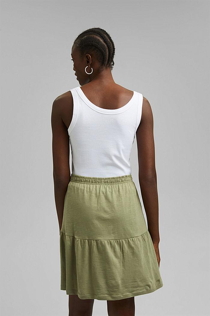 Minifalda de jersey, algodón ecológico, LIGHT KHAKI, detail image number 3