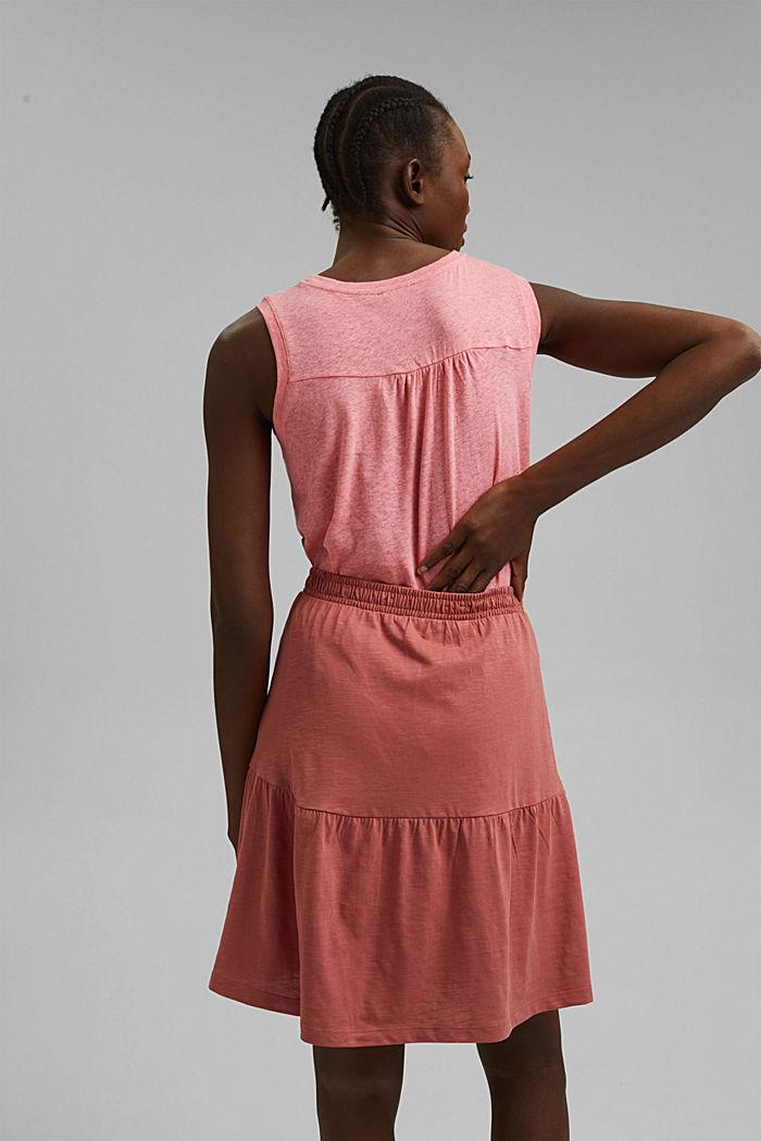 Mini-jupe longueur en jersey, coton biologique, BLUSH, detail image number 3