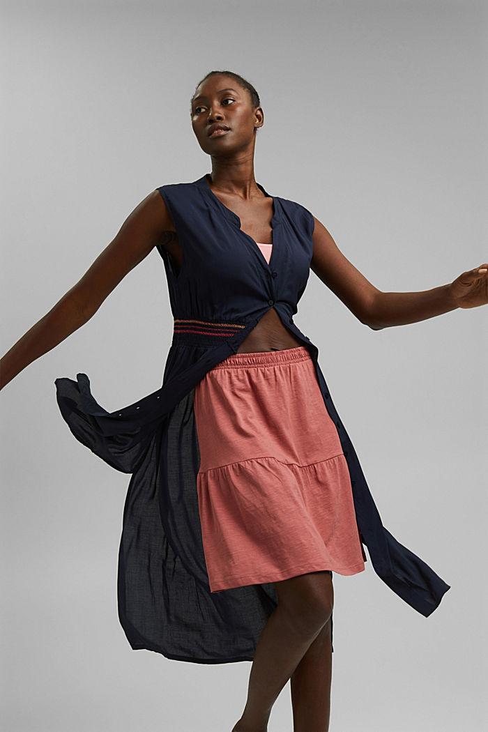 Mini-jupe longueur en jersey, coton biologique, BLUSH, detail image number 5