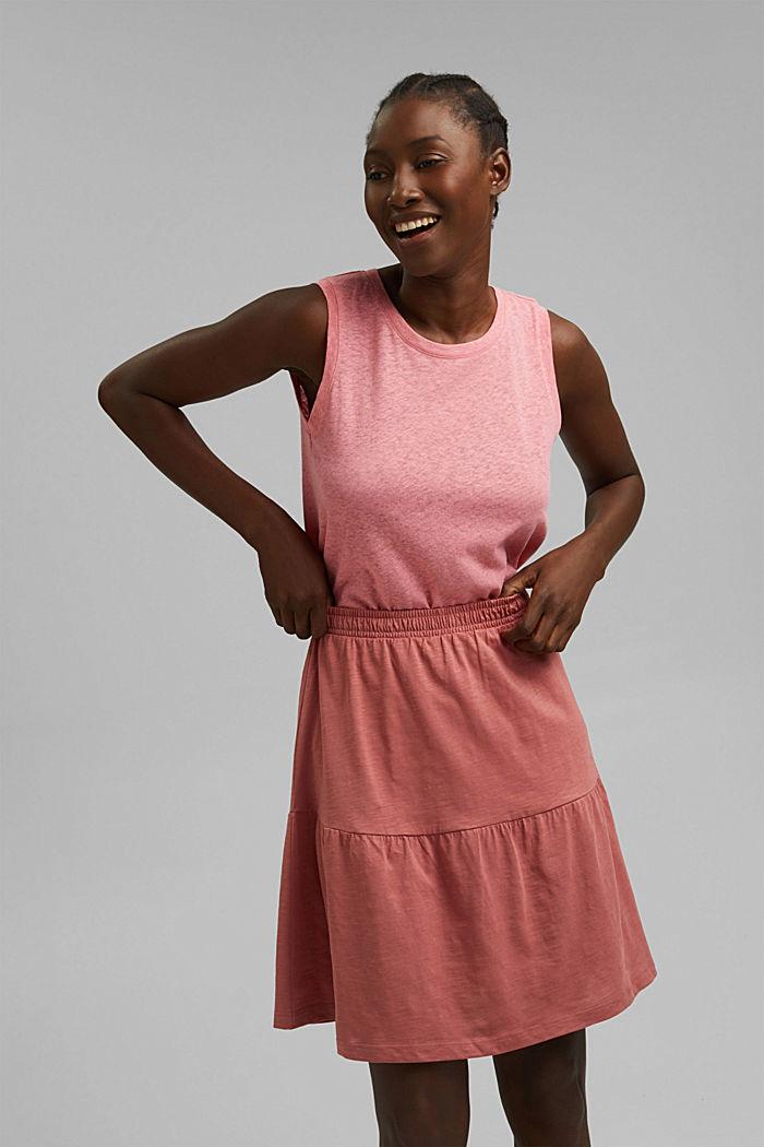 Mini-jupe longueur en jersey, coton biologique, BLUSH, detail image number 6