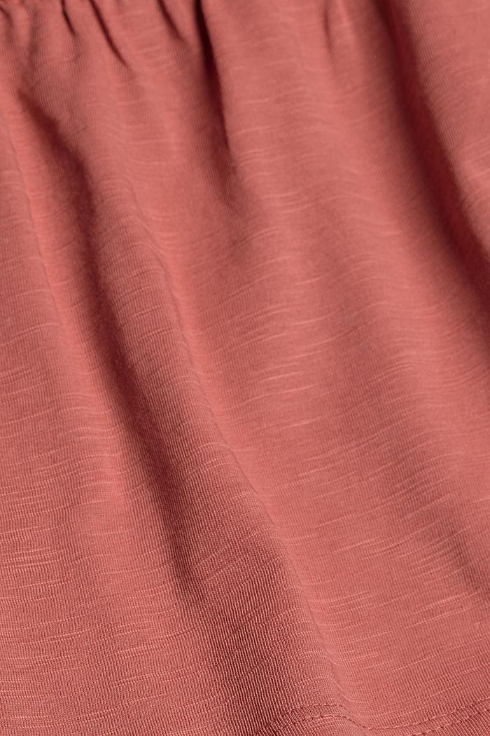 Mini-jupe longueur en jersey, coton biologique, BLUSH, detail image number 4