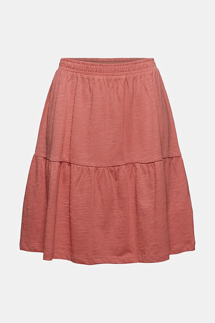 Mini-nederdel af jersey, økologisk bomuld