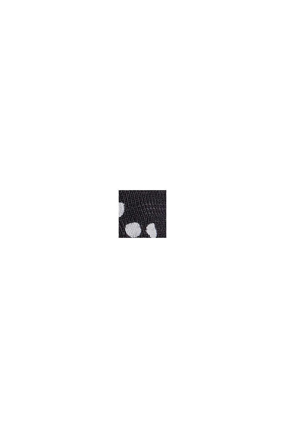 Minikjol i jersey, ekologisk bomull, BLACK, swatch