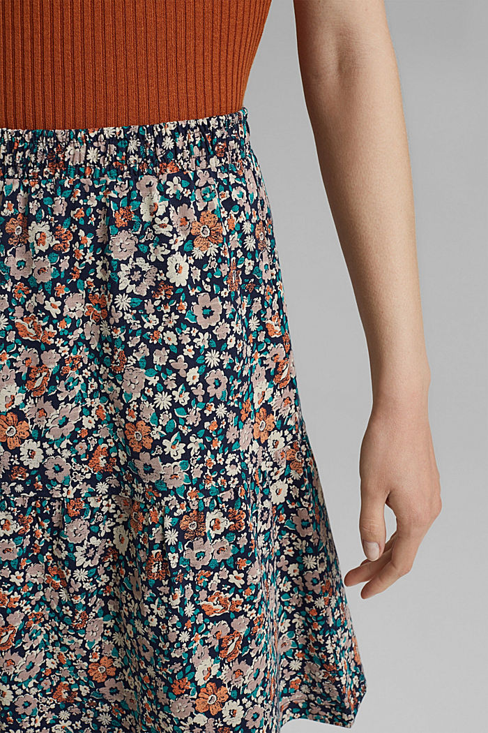 Jersey mini skirt, organic cotton, NAVY, detail image number 2
