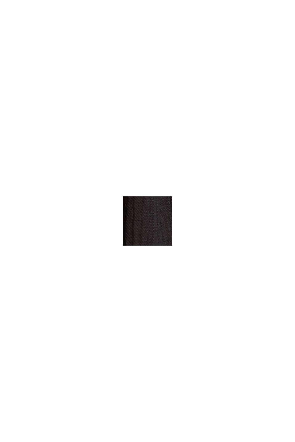 Crinkle-Maxikleid aus LENZING™ ECOVERO™, BLACK, swatch