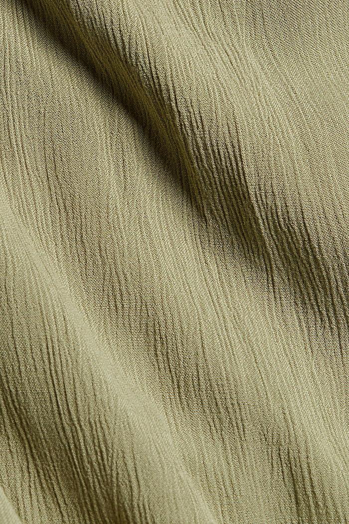 Crinkle-Maxikleid aus LENZING™ ECOVERO™, LIGHT KHAKI, detail image number 4