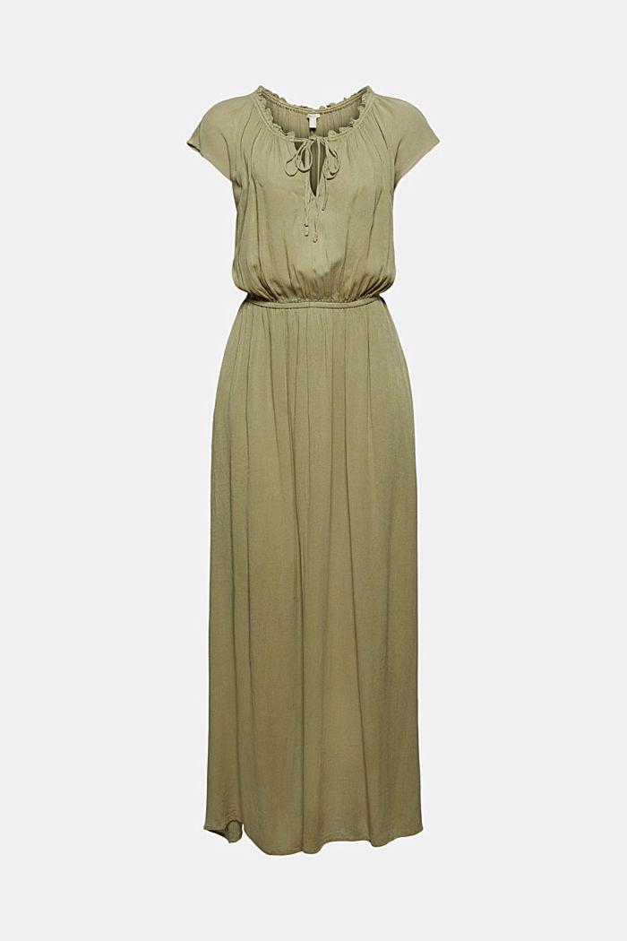 Maxi-jurk van LENZING™ ECOVERO™ met crinkle-look