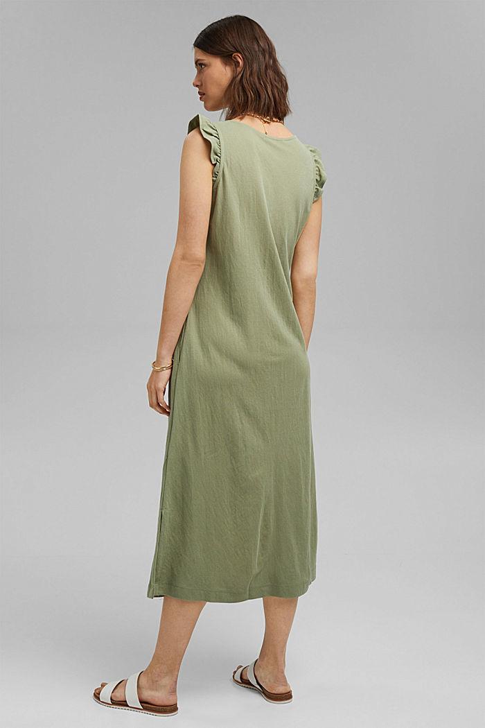 Midi jersey dress with LENZING™ ECOVERO™, LIGHT KHAKI, detail image number 2