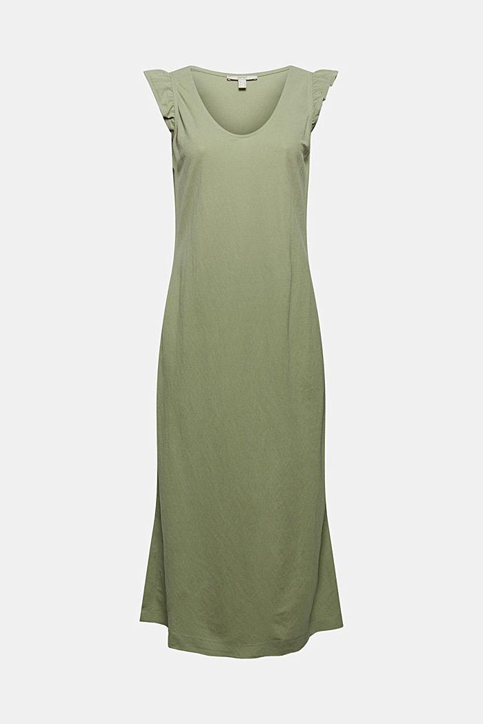 Midi jersey dress with LENZING™ ECOVERO™, LIGHT KHAKI, detail image number 6