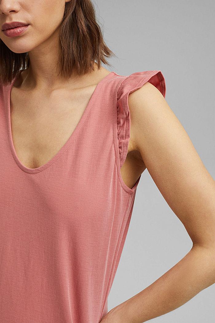 Midi jersey dress with LENZING™ ECOVERO™, BLUSH, detail image number 3