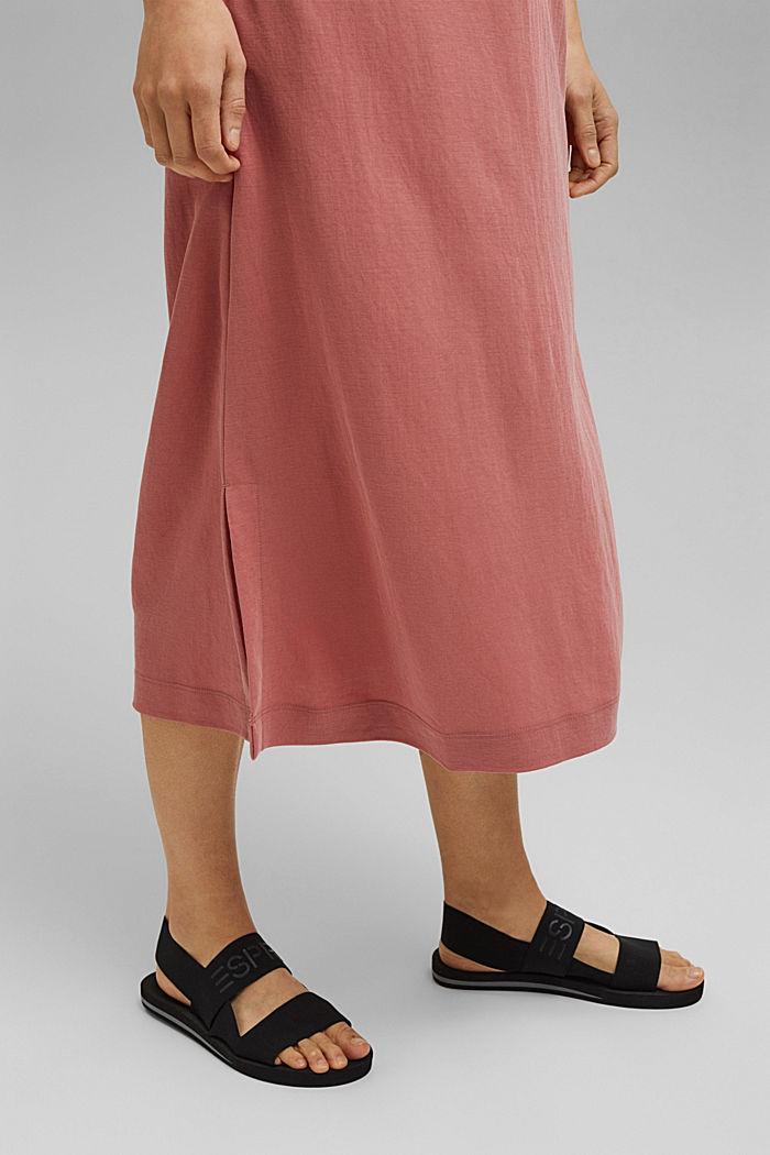 Midi jersey dress with LENZING™ ECOVERO™, BLUSH, detail image number 5
