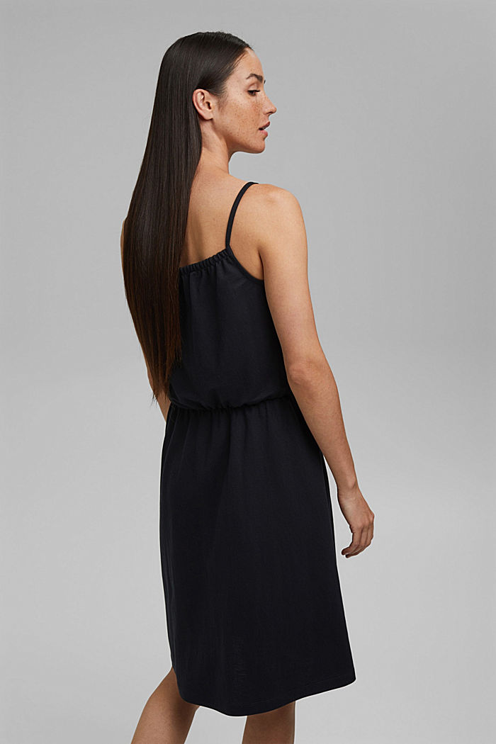 Jersey dress with LENZING™ ECOVERO™, BLACK, detail image number 2