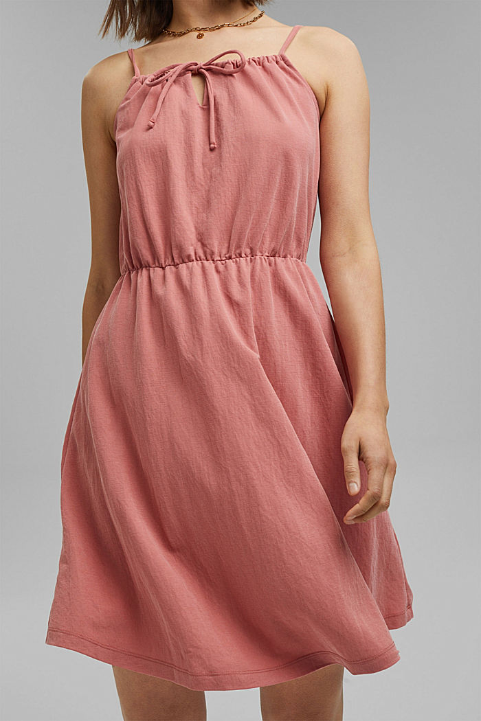 Jersey dress with LENZING™ ECOVERO™, BLUSH, detail image number 5