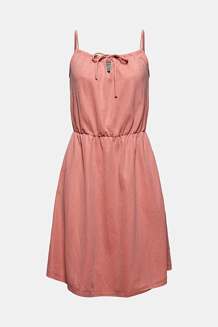 Jersey dress with LENZING™ ECOVERO™, BLUSH, detail image number 7