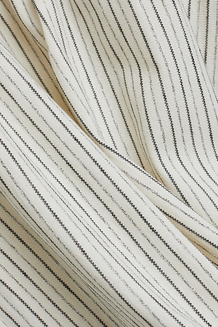 Midi-jurk met strikbandjes van een mix met biologisch katoen, OFF WHITE, detail image number 4