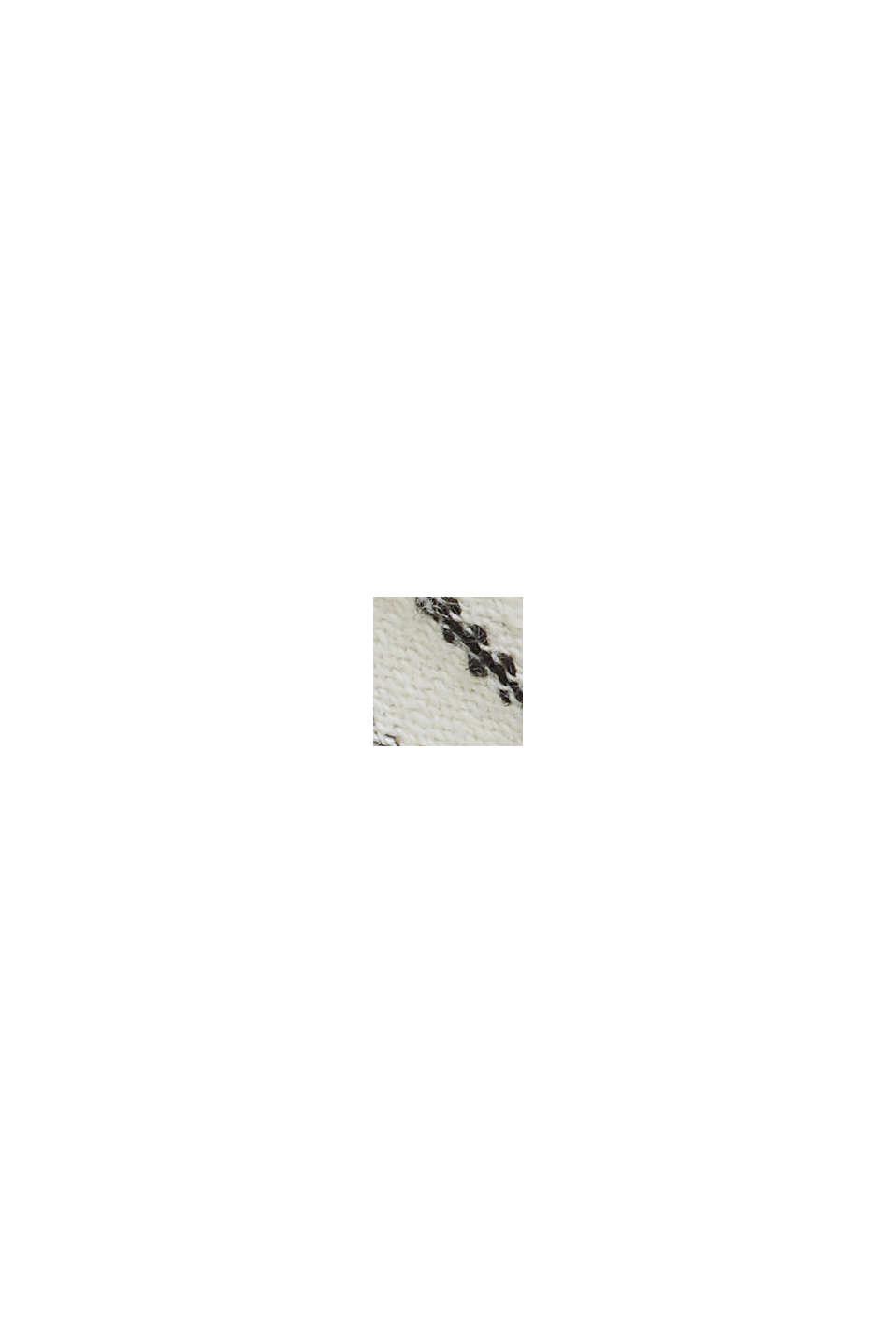 Midi-jurk met strikbandjes van een mix met biologisch katoen, OFF WHITE, swatch