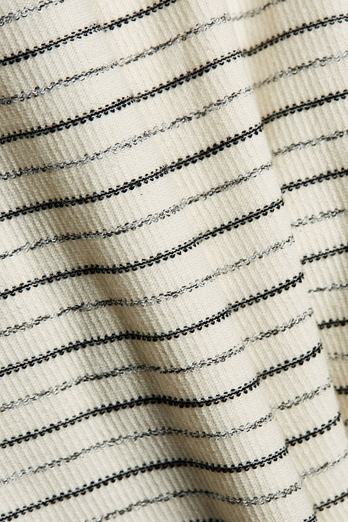 Midi dress with stripes made of an organic cotton blend, OFF WHITE, detail image number 4