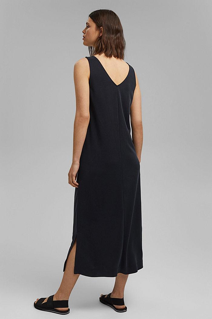 Midi-Jerseykleid mit mattem Schimmer, BLACK, detail image number 2