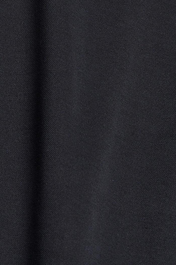 Midi-Jerseykleid mit mattem Schimmer, BLACK, detail image number 4