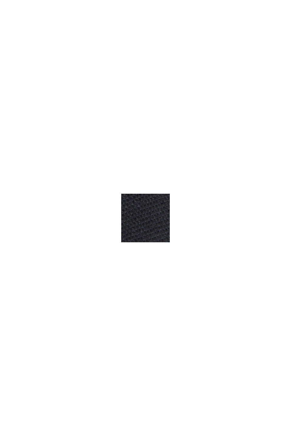 Midi-jerseykjole med mat glans, BLACK, swatch