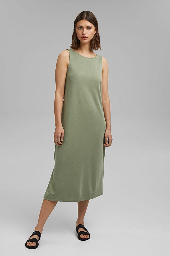 Jersey midi-jurk met een matte glans