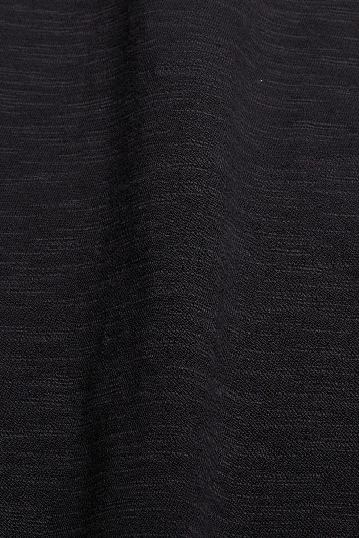 Robe en jersey à nervures, 100% coton biologique, BLACK, detail image number 4