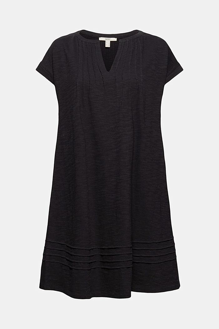 Jersey jurk met biesjes, 100% biologisch katoen
