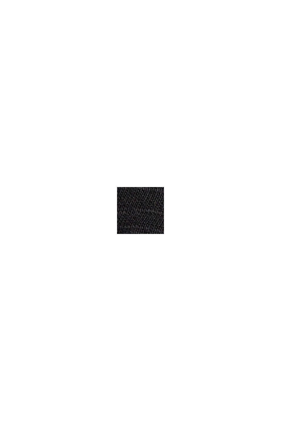 Jerseykjole med biser, 100% økologisk bomuld, BLACK, swatch