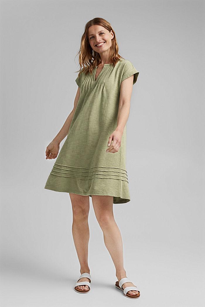 Jerseykjole med biser, 100% økologisk bomuld
