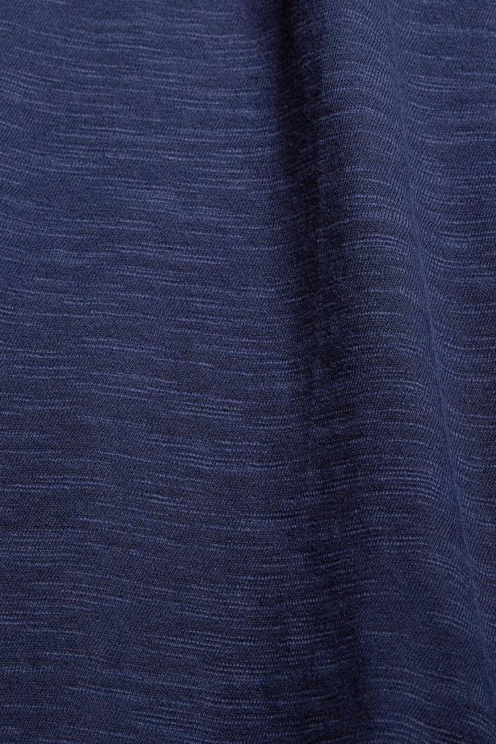 Jersey dress with pintucks, 100% organic cotton, NAVY, detail image number 4