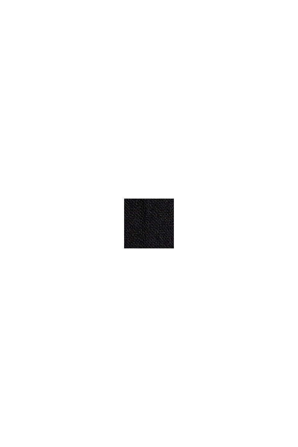 Besticktes Tunika-Kleid, 100% Bio-Baumwolle, BLACK, swatch